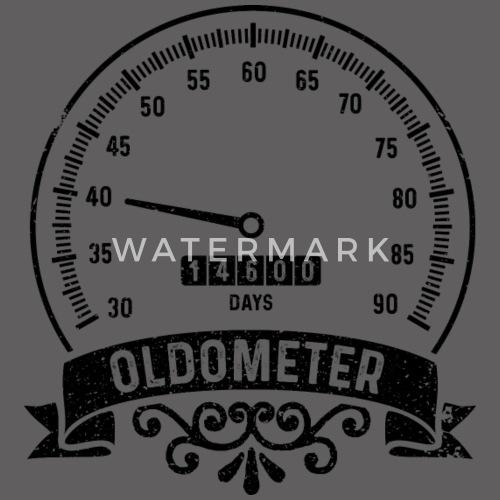 40 Geburtstag Oldometer Shirt Lustiges Geschenk Manner Premium
