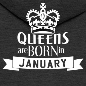 QUEENS BORN JANUARY - Men's Premium Hooded Jacket
