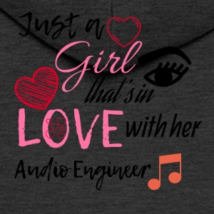 Just a girl that's in love with her Audio Engineer - Men's Premium Hooded Jacket
