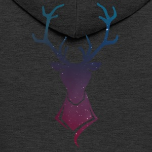 Deer logo Colorful stars - Men's Premium Hooded Jacket