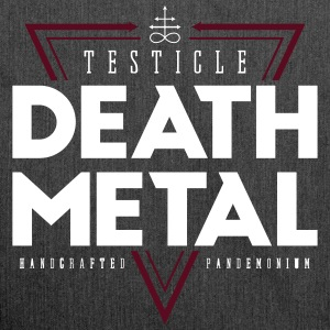 Testicle Death Metal - Schultertasche aus Recycling-Material