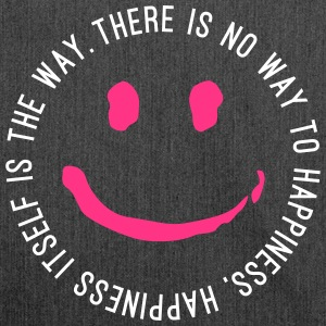 Way to Happiness - Schultertasche aus Recycling-Material