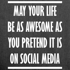 social media awesome life - Schultertasche aus Recycling-Material