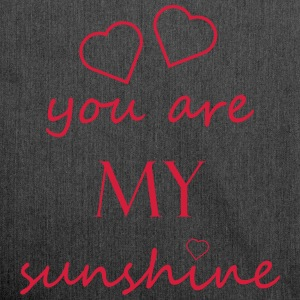 you are my sunshine - Liebe Beziehung Partner Love - Schultertasche aus Recycling-Material