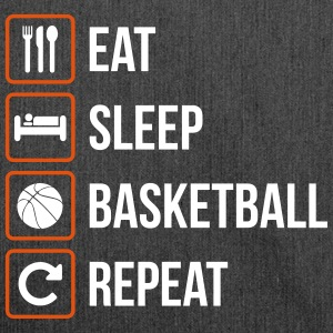 Eat Sleep Basketball Repeat - Schultertasche aus Recycling-Material