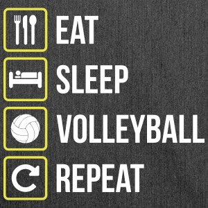 Eat Sleep Volleyball Gentag - Skuldertaske af recycling-material