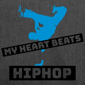 My heart beats HIPHOP - Shoulder Bag made from recycled material
