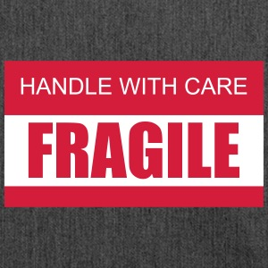 FRAGILE Handle with care 2c - Shoulder Bag made from recycled material