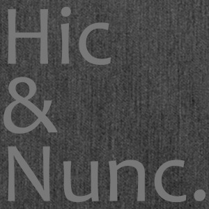 Hic & Nunc - Schultertasche aus Recycling-Material