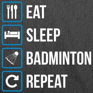 Eat Sleep Badminton Repeat - Borsa in materiale riciclato