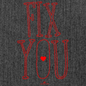 Fix you - Schultertasche aus Recycling-Material
