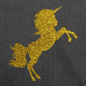 Golden Unicorn - Golden Unicorn Gold Glitter - Shoulder Bag made from recycled material