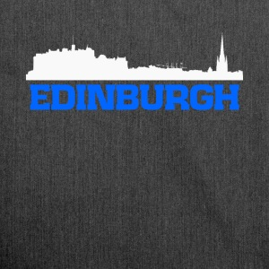 Edinburgh Scotland skyline tee - Shoulder Bag made from recycled material