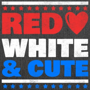 Red White and Cute - USA, Russland, Reise, Urlaub - Schultertasche aus Recycling-Material