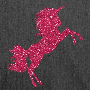 Pink Glittering Unicorn Glitter Pink Gemstones - Shoulder Bag made from recycled material