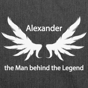 Alexander the Man behind the Legend - Schultertasche aus Recycling-Material