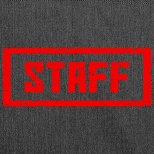 Staff stamp red - Shoulder Bag made from recycled material