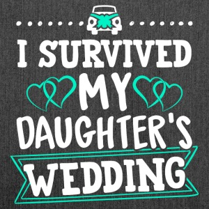 I Survived My Daughter's Wedding - Schultertasche aus Recycling-Material