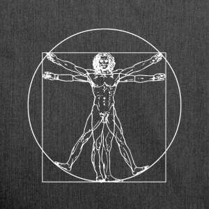 Vitruvian Man - Shoulder Bag made from recycled material
