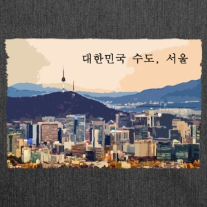 Seoul at Sunset - Schultertasche aus Recycling-Material