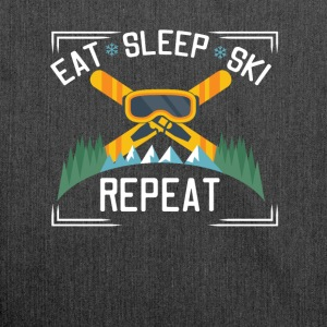 Eat Sleep Ski Repeat - Shoulder Bag made from recycled material