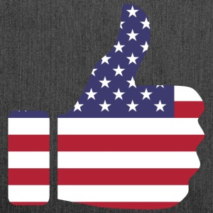 Thumbs up - USA - Schultertasche aus Recycling-Material