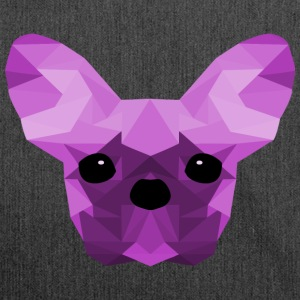 French Bulldog Low Poly Design lilac - Shoulder Bag made from recycled material