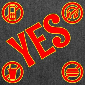 Signs,with YES - Shoulder Bag made from recycled material