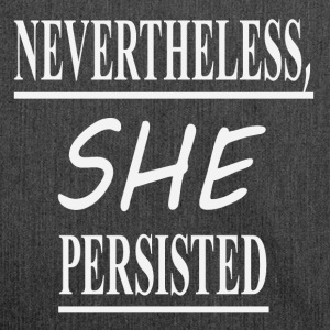 Nevertheless she, - Schultertasche aus Recycling-Material
