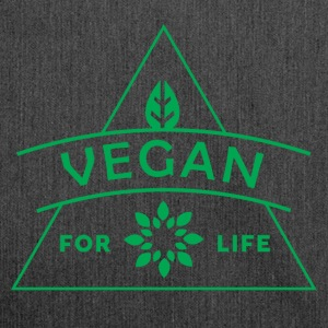 VEGAN FOR LIFE - Shoulder Bag made from recycled material