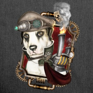 Steampunk Dog # 1 - Shoulder Bag made from recycled material