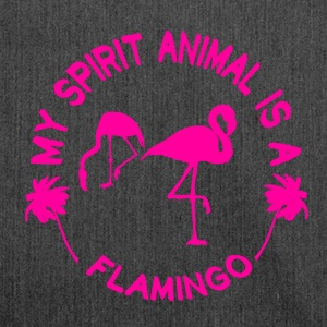 Flamingo My Spirit Animal - Schultertasche aus Recycling-Material