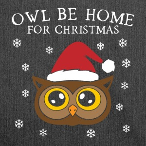 Owl Be Home For Christmas - Schultertasche aus Recycling-Material
