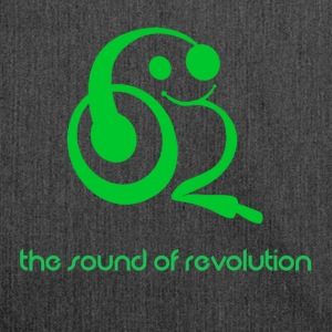 The sound of revolution - Shoulder Bag made from recycled material