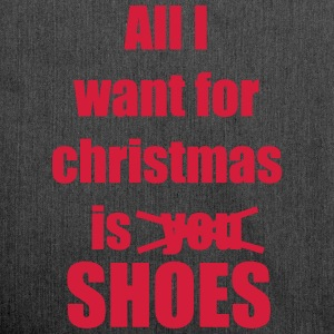 Christmas song saying shoes - Shoulder Bag made from recycled material