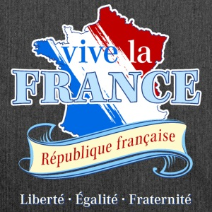 vive la France France République française EU - Shoulder Bag made from recycled material
