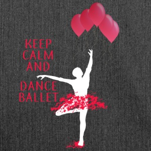 DANCE BALLET BALLOON BALLERINA DANCING GIFT - Shoulder Bag made from recycled material