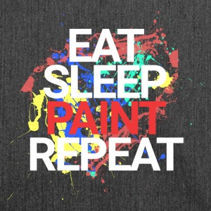 Eat Sleep Paint Repeat - Schultertasche aus Recycling-Material