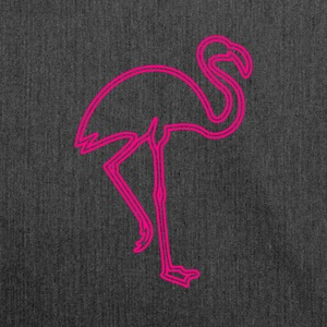 80s Retro Neon Sign Pink Flamingo - Schultertasche aus Recycling-Material