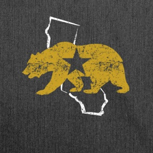 Californië Golden State Bear - Schoudertas van gerecycled materiaal