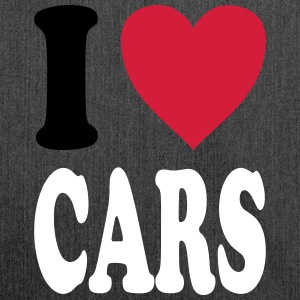 I love CARS - Schultertasche aus Recycling-Material