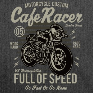 Cafe Racer: Full of speed Custum motorcycle shirt - Shoulder Bag made from recycled material