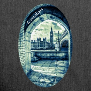 London the Palace of Westminster and Big Ben - Shoulder Bag made from recycled material