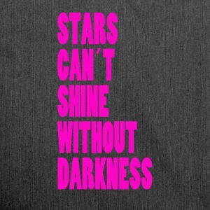STARS CAN´T SHINE WITHOUT DARKNESS - NEONPINK - Borsa in materiale riciclato