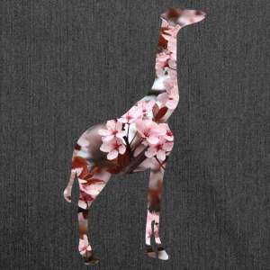 Giraffe flower silhouette - Shoulder Bag made from recycled material