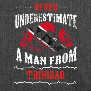 never underestimate man TRINIDAD TOBAGO - Shoulder Bag made from recycled material
