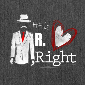 Mr. Right - Partnerlook Shirt 001 - Schultertasche aus Recycling-Material