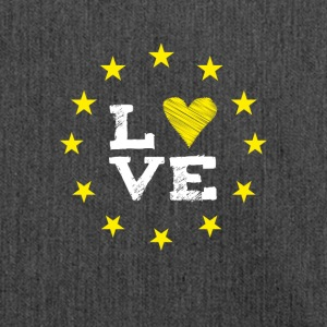 love Europe EU star circle heart demo statement LO - Shoulder Bag made from recycled material