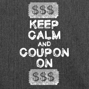 Mantenere la calma e coupon sul coupon t-shirt - Borsa in materiale riciclato
