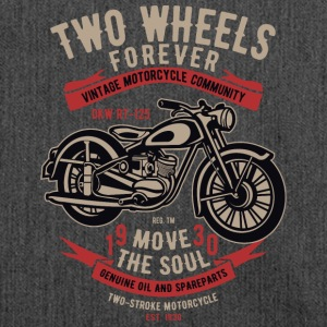 Two Wheels Forever 2 2 - Schultertasche aus Recycling-Material